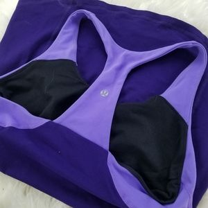 Lululemon two toned purple workout top size 10